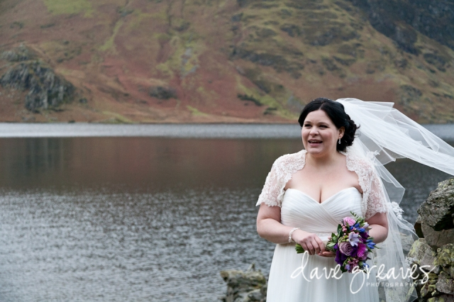 Bride at Crummock Water, Lake District