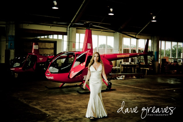 Trash the dress with helicopter
