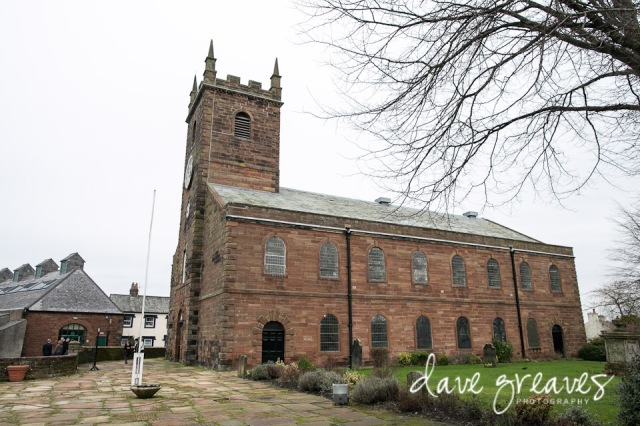 Wedding at St Mary's church in Wigton