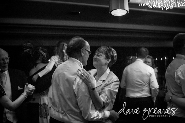 Wedding guests enjoying dancing